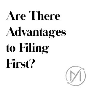 Are there advantages to filing first in a connecticut divorce